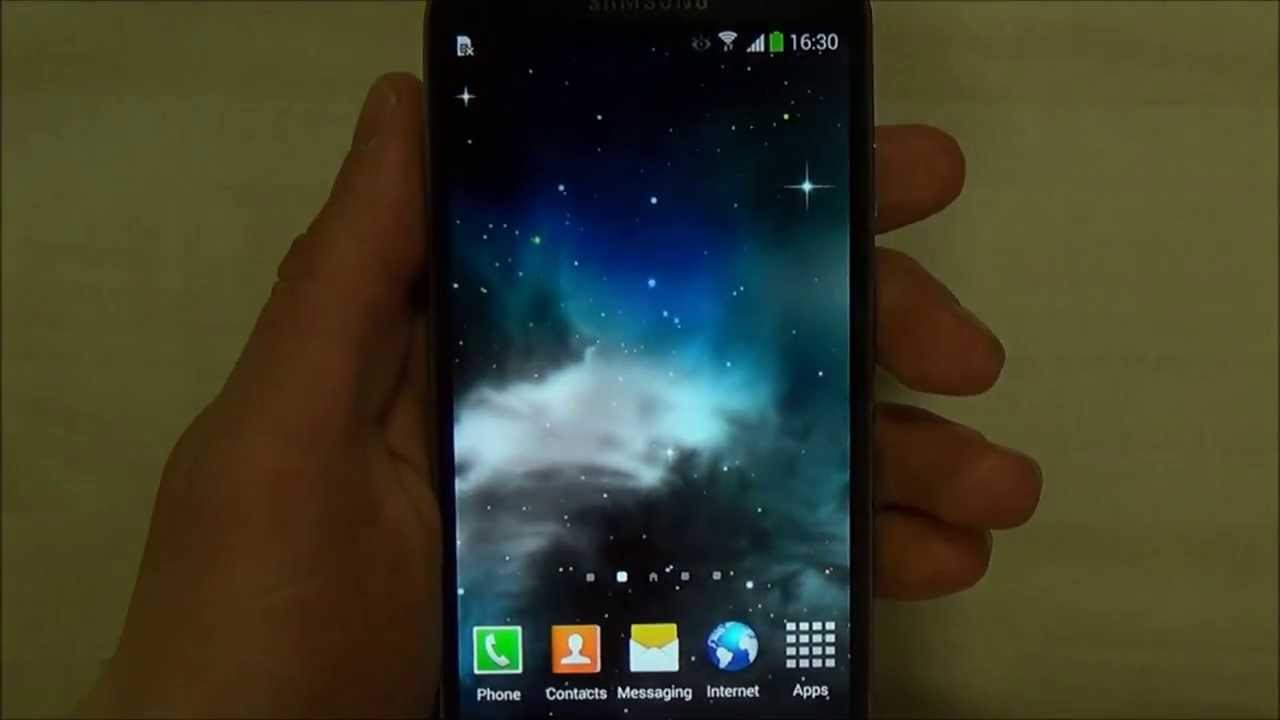 Galaxy Parallax Live Wallpaper App Android Apps Mirror