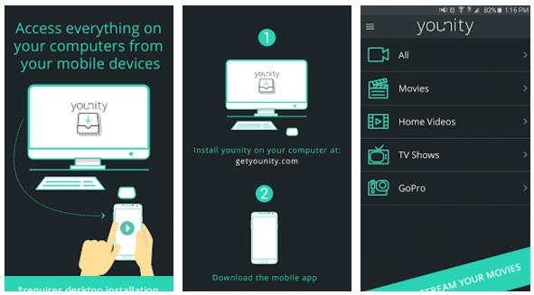 younity Home Media Server app | Android Apps Mirror